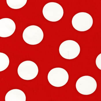 Simply Inverse Dots by Springs - White Spots on Red