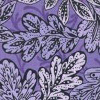 Victoria by Fabric Freedom UK - Patterned Leaves Violet