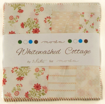Whitewashed Cottage by 3 Sisters for Moda - Charm Squares