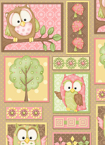 You Whoo by Henry Glass - Pink Owl Patch